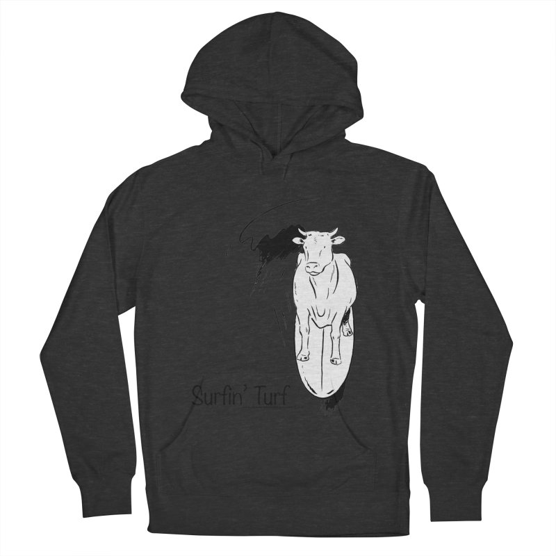 Surfin' Turf Women's French Terry Pullover Hoody by sundaydrivedesigns's Artist Shop