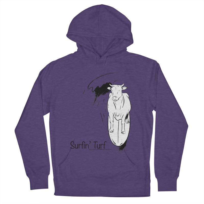 Surfin' Turf Men's French Terry Pullover Hoody by sundaydrivedesigns's Artist Shop