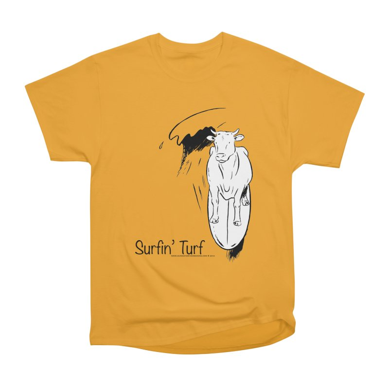 Surfin' Turf Men's Heavyweight T-Shirt by sundaydrivedesigns's Artist Shop