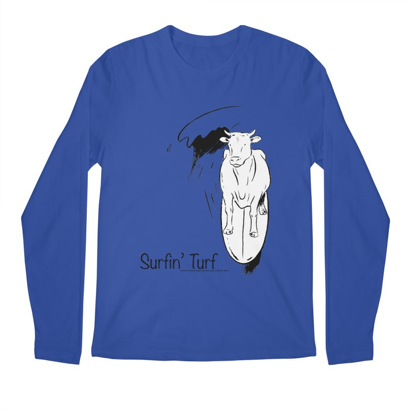 Surfin' Turf Men's Regular Longsleeve T-Shirt by sundaydrivedesigns's Artist Shop