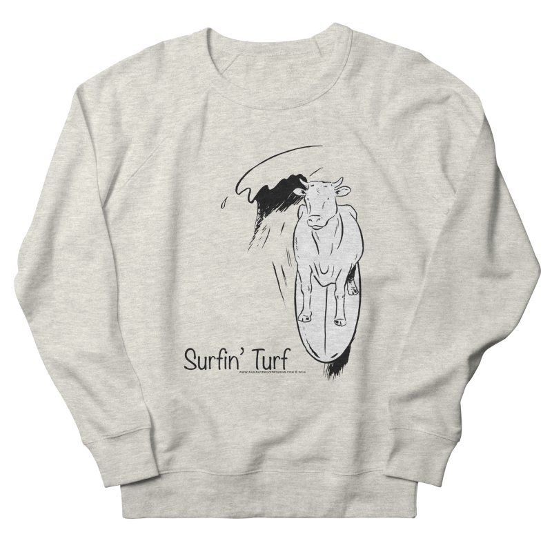 Surfin' Turf Women's French Terry Sweatshirt by sundaydrivedesigns's Artist Shop