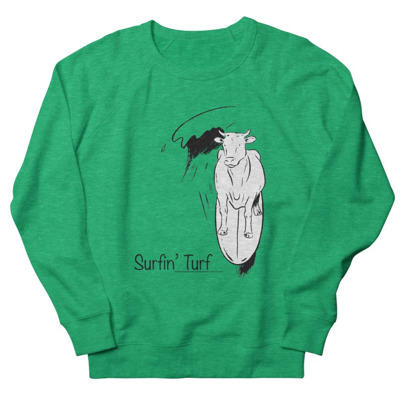 Surfin' Turf Men's French Terry Sweatshirt by sundaydrivedesigns's Artist Shop
