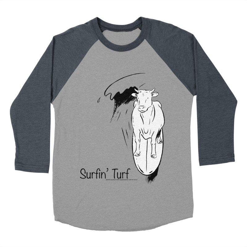 Surfin' Turf Women's Baseball Triblend Longsleeve T-Shirt by sundaydrivedesigns's Artist Shop