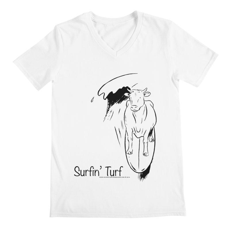 Surfin' Turf Men's V-Neck by sundaydrivedesigns's Artist Shop