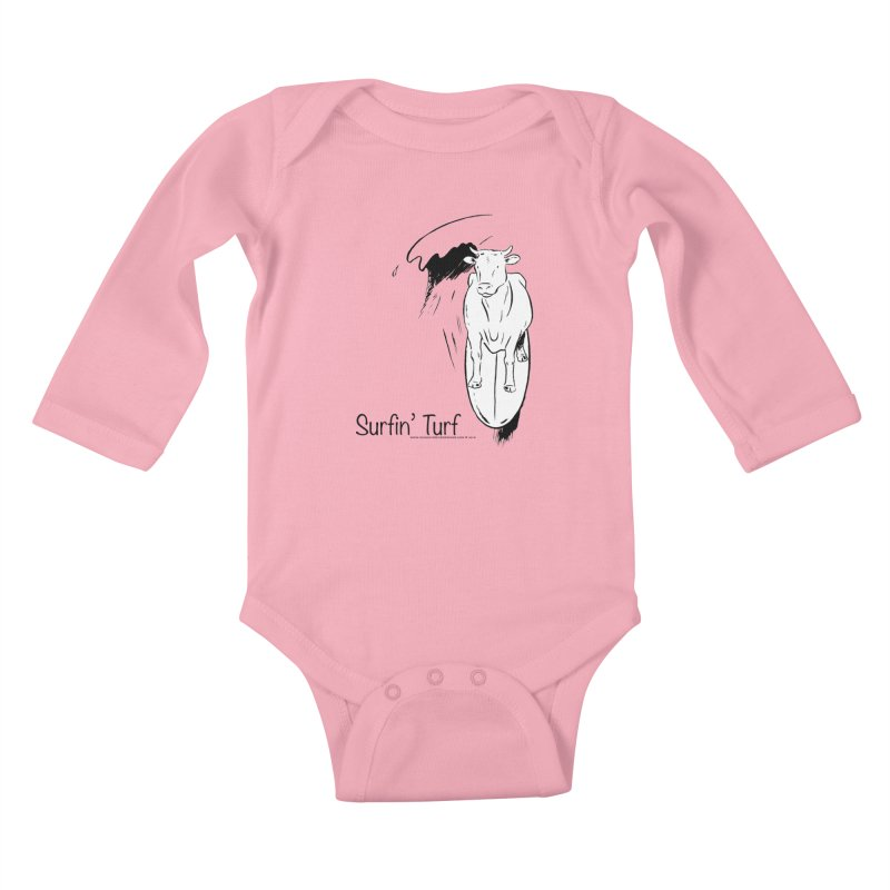 Surfin' Turf Kids Baby Longsleeve Bodysuit by sundaydrivedesigns's Artist Shop