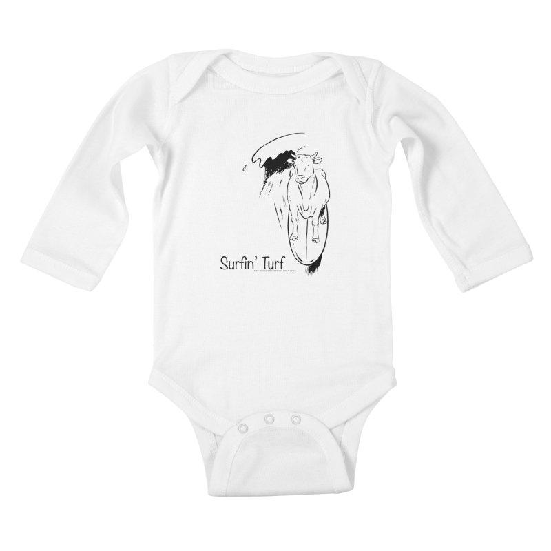 Surfin' Turf Kids Baby Longsleeve Bodysuit by sundaydrivedesigns's Artist Shop