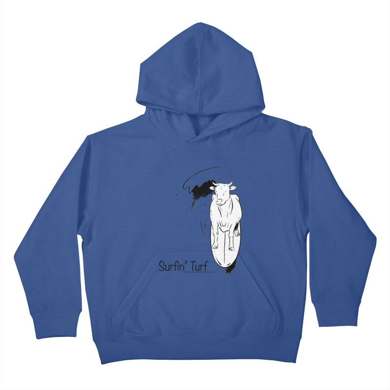 Surfin' Turf Kids Pullover Hoody by sundaydrivedesigns's Artist Shop