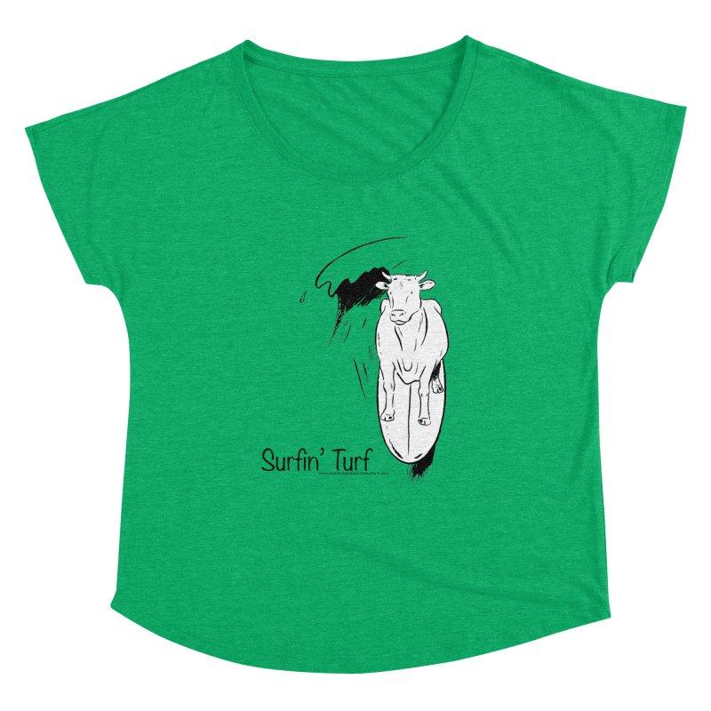 Surfin' Turf Women's Dolman Scoop Neck by sundaydrivedesigns's Artist Shop