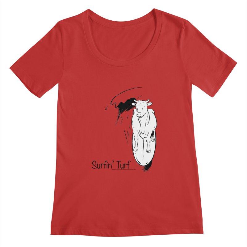 Surfin' Turf Women's Regular Scoop Neck by sundaydrivedesigns's Artist Shop