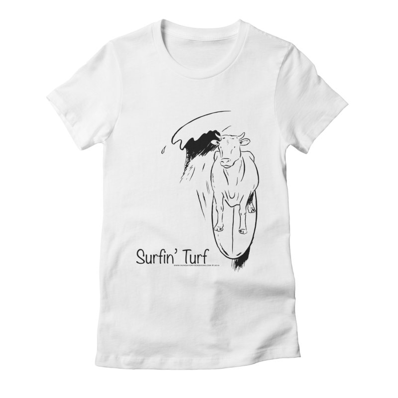 Surfin' Turf Women's Fitted T-Shirt by sundaydrivedesigns's Artist Shop