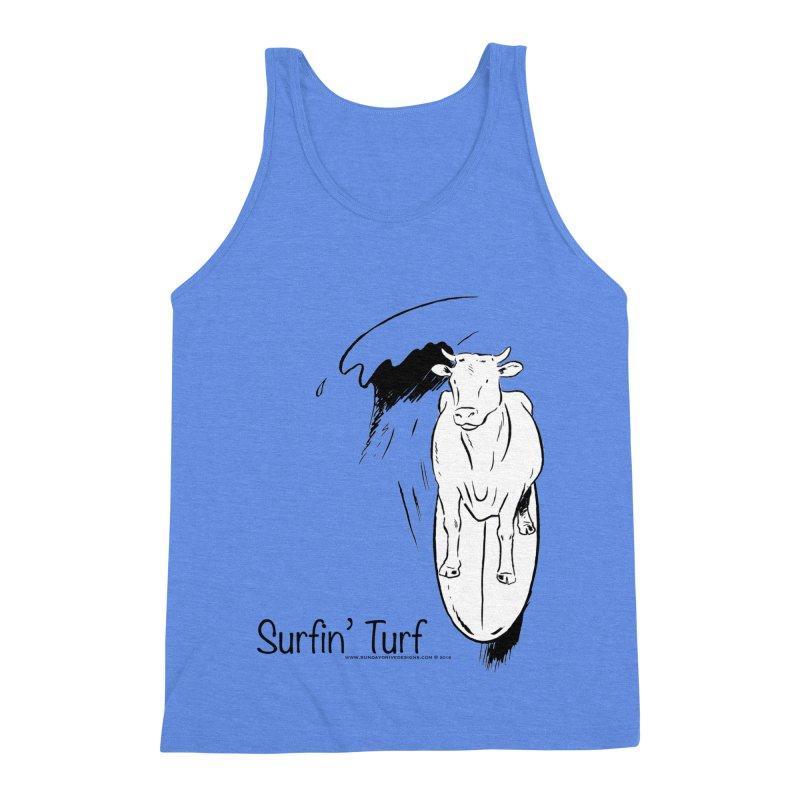 Surfin' Turf Men's Triblend Tank by sundaydrivedesigns's Artist Shop