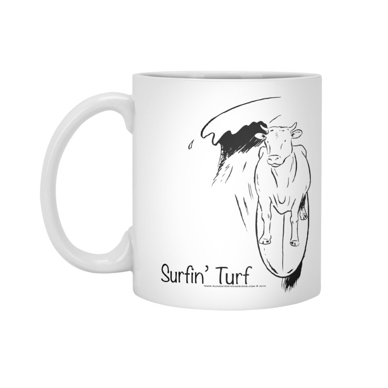 Surfin' Turf Accessories Mug by sundaydrivedesigns's Artist Shop