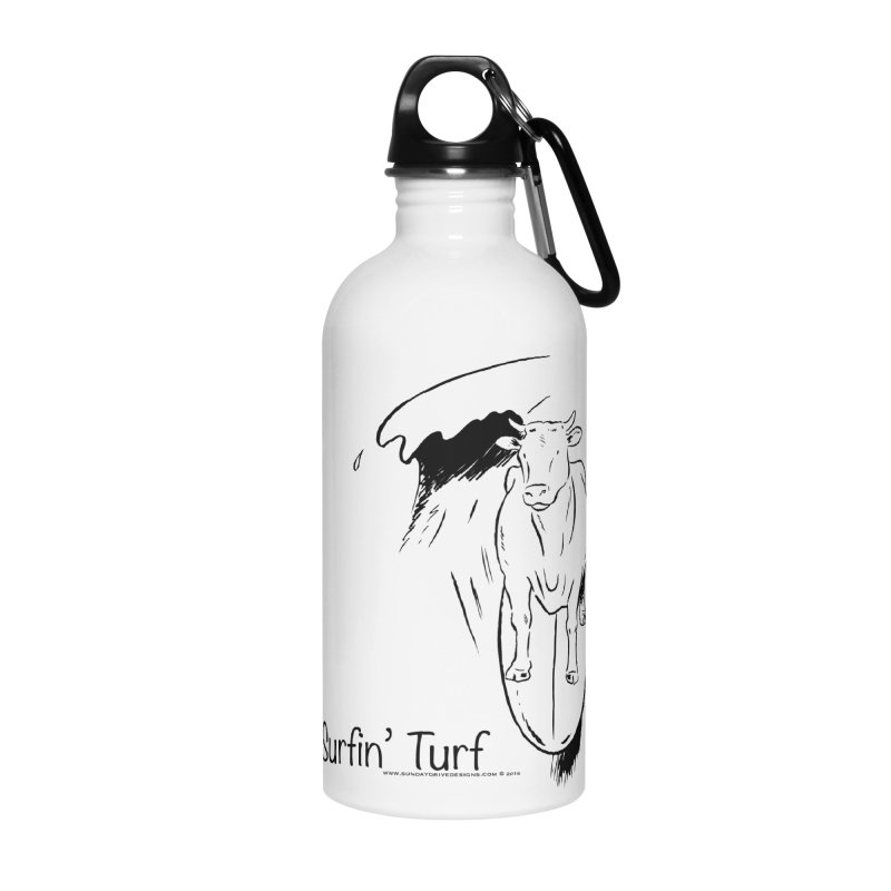 Surfin' Turf Accessories Water Bottle by sundaydrivedesigns's Artist Shop