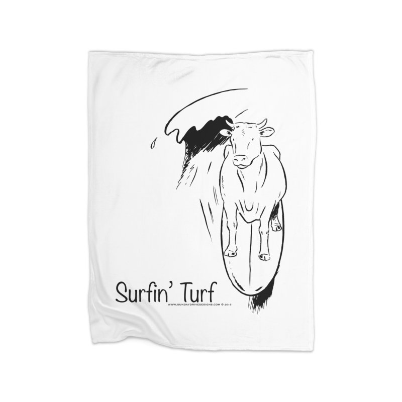 Surfin' Turf Home Blanket by sundaydrivedesigns's Artist Shop