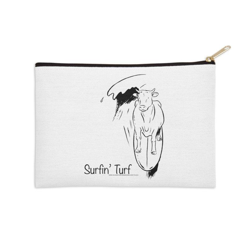 Surfin' Turf Accessories Zip Pouch by sundaydrivedesigns's Artist Shop