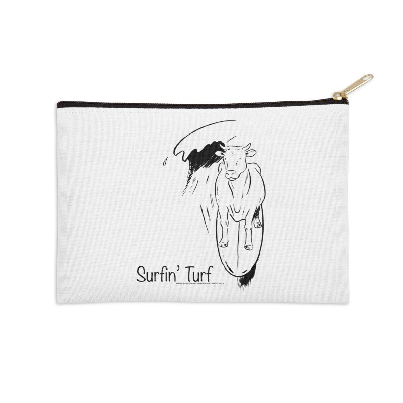 Surfin' Turf Accessories Zip Pouch by sundaydrivedesigns's Artist Shop