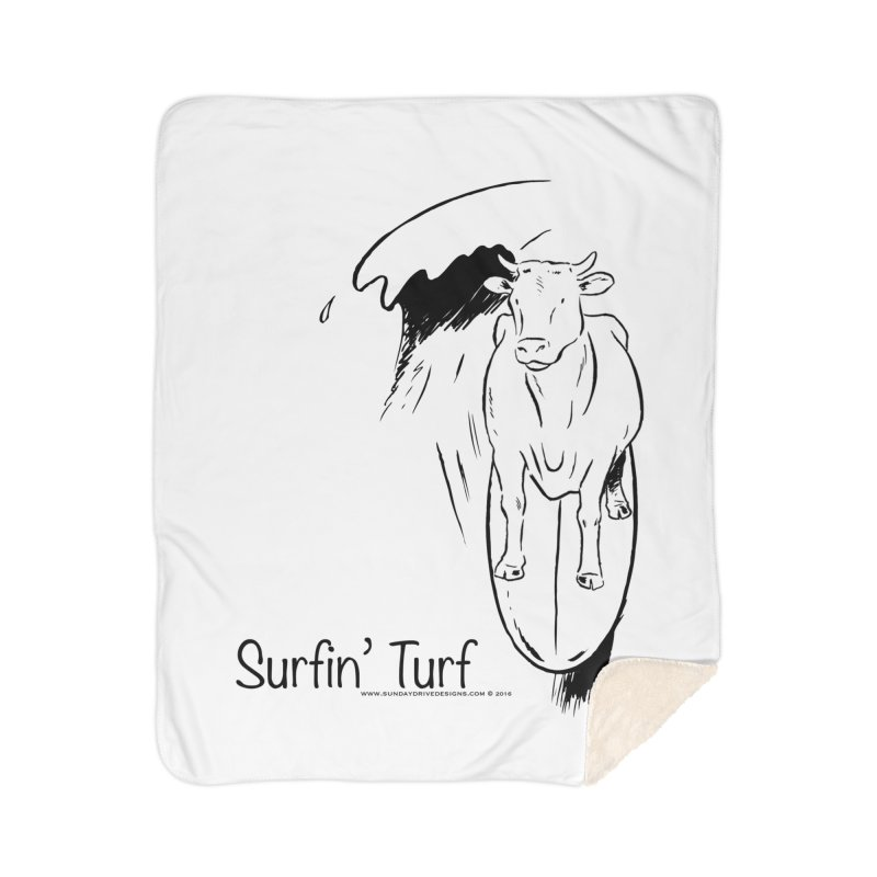 Surfin' Turf Home Sherpa Blanket Blanket by sundaydrivedesigns's Artist Shop