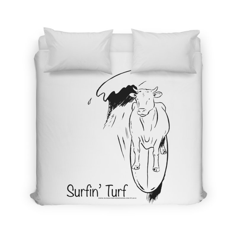 Surfin' Turf Home Duvet by sundaydrivedesigns's Artist Shop