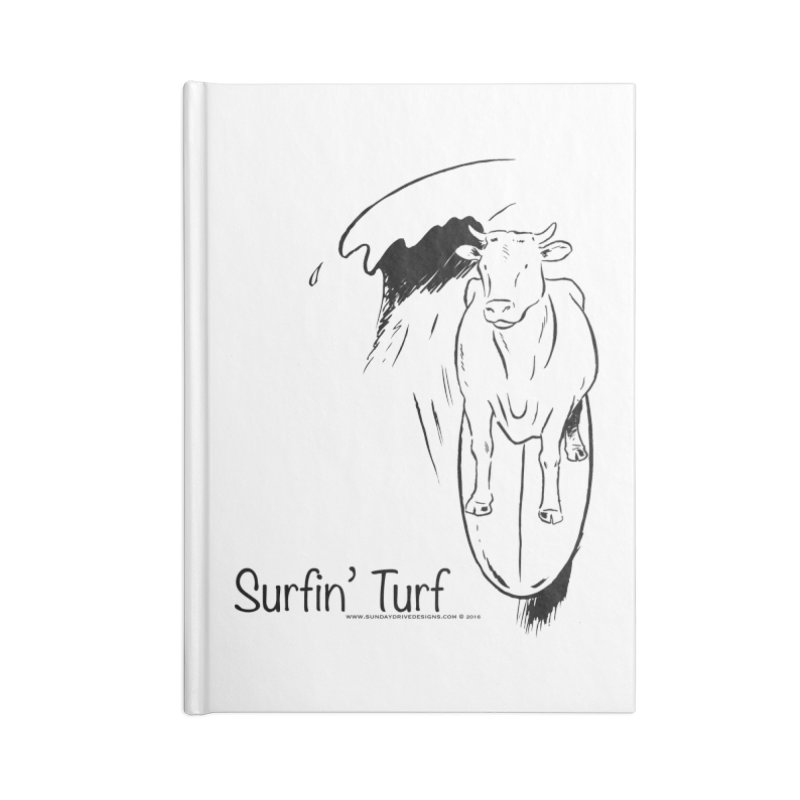 Surfin' Turf Accessories Lined Journal Notebook by sundaydrivedesigns's Artist Shop
