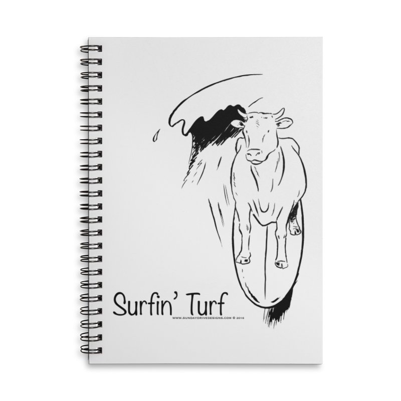 Surfin' Turf Accessories Lined Spiral Notebook by sundaydrivedesigns's Artist Shop