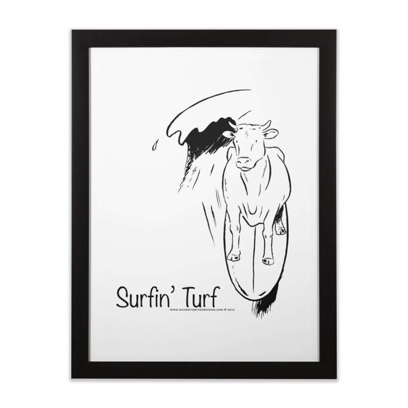 Surfin' Turf Home Framed Fine Art Print by sundaydrivedesigns's Artist Shop