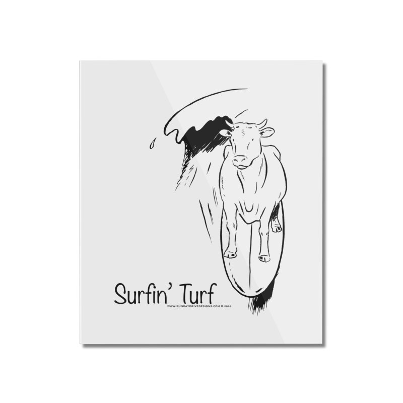 Surfin' Turf Home Mounted Acrylic Print by sundaydrivedesigns's Artist Shop