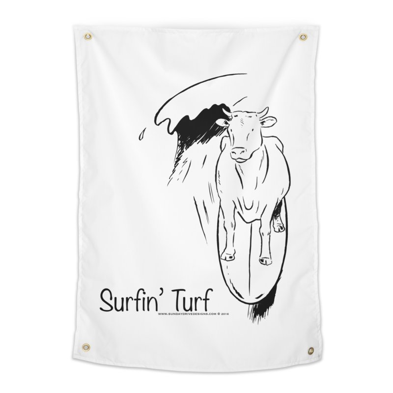 Surfin' Turf Home Tapestry by sundaydrivedesigns's Artist Shop