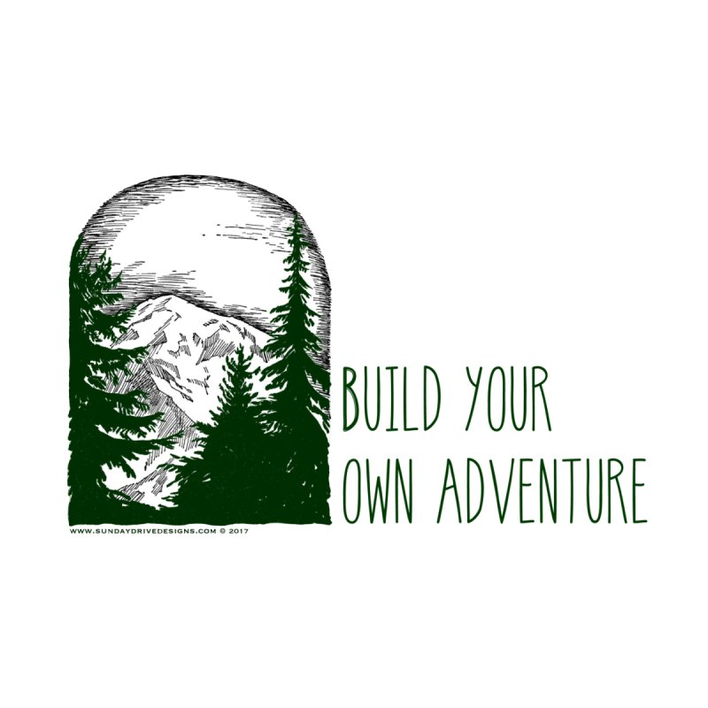 Build Your Own Adventure Accessories Zip Pouch by sundaydrivedesigns's Artist Shop