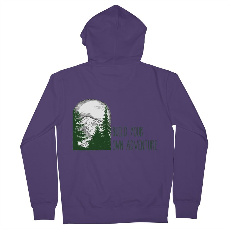 Build Your Own Adventure Women's Zip-Up Hoody by sundaydrivedesigns's Artist Shop