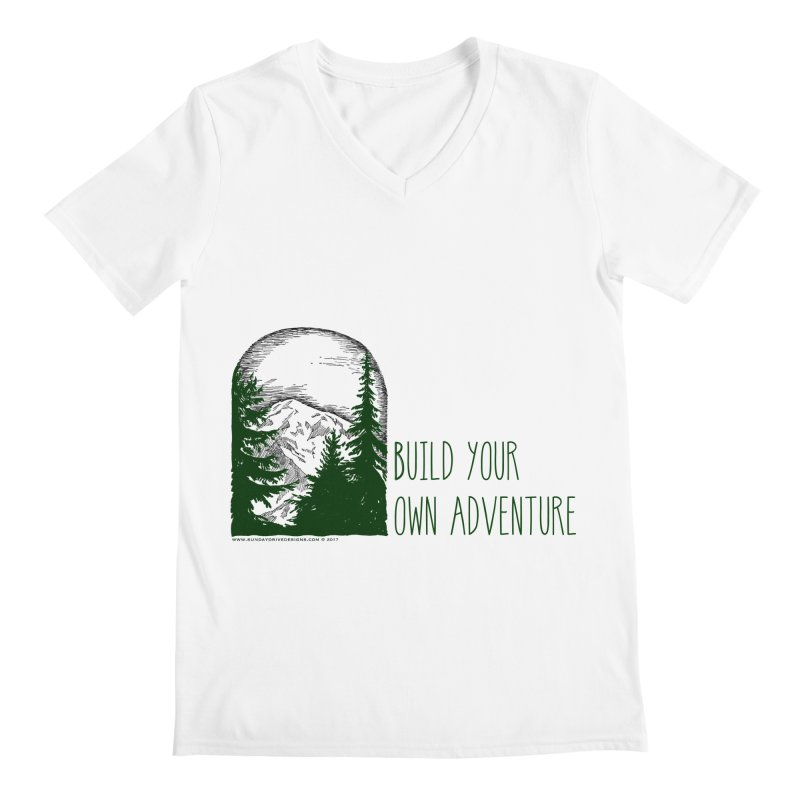 Build Your Own Adventure Men's V-Neck by sundaydrivedesigns's Artist Shop
