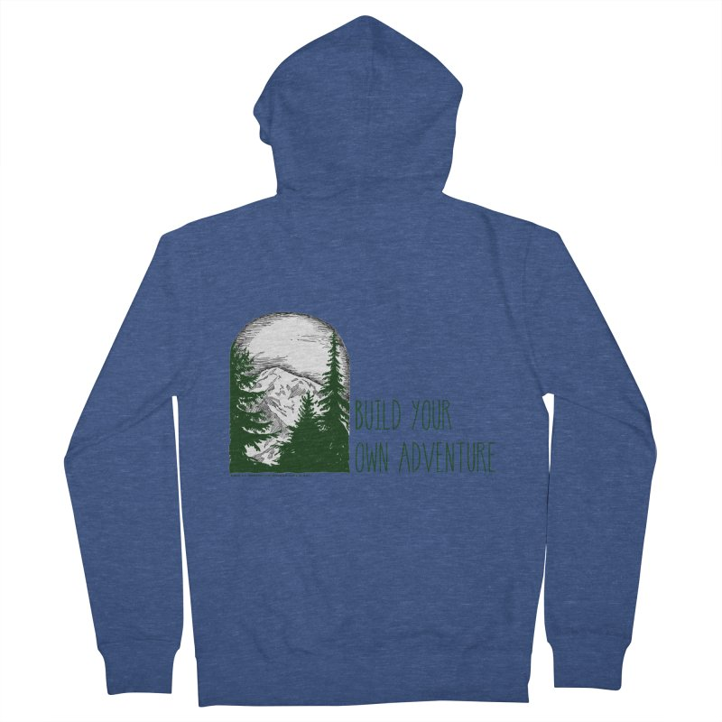 Build Your Own Adventure Men's Zip-Up Hoody by sundaydrivedesigns's Artist Shop