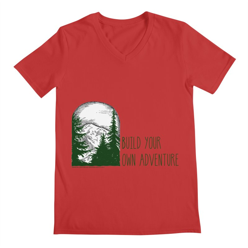 Build Your Own Adventure Men's Regular V-Neck by sundaydrivedesigns's Artist Shop