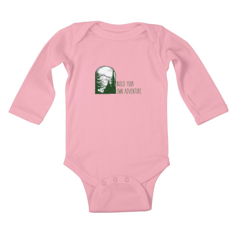 Build Your Own Adventure Kids Baby Longsleeve Bodysuit by sundaydrivedesigns's Artist Shop