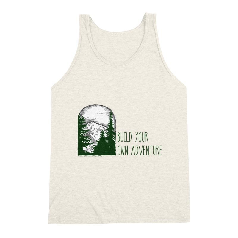 Build Your Own Adventure Men's Triblend Tank by sundaydrivedesigns's Artist Shop