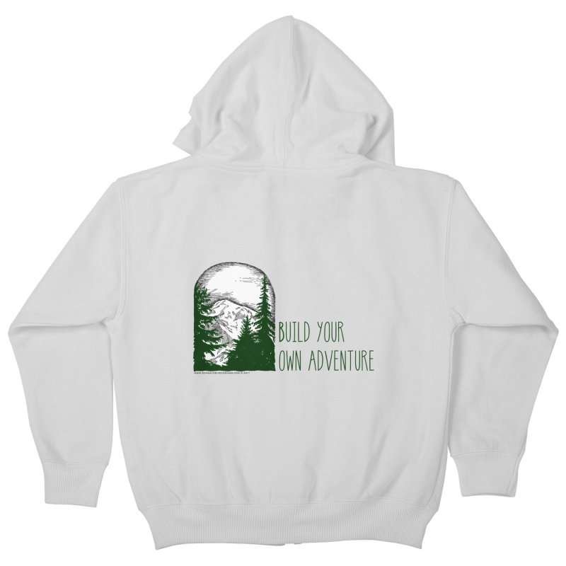 Build Your Own Adventure Kids Zip-Up Hoody by sundaydrivedesigns's Artist Shop
