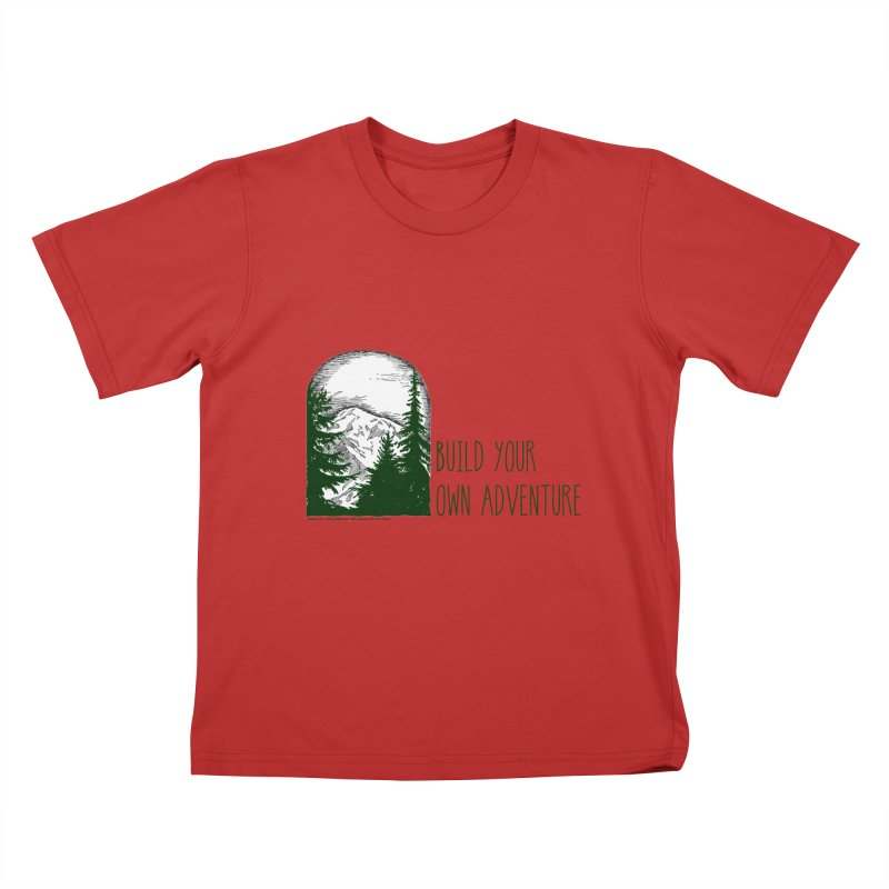 Build Your Own Adventure Kids T-Shirt by sundaydrivedesigns's Artist Shop