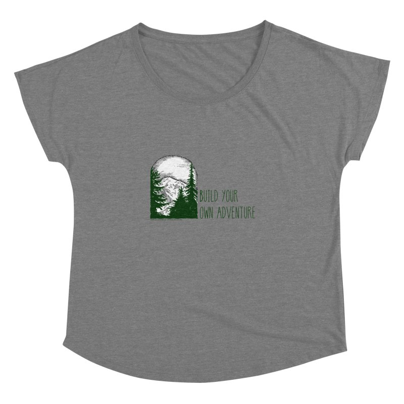 Build Your Own Adventure Women's Scoop Neck by sundaydrivedesigns's Artist Shop
