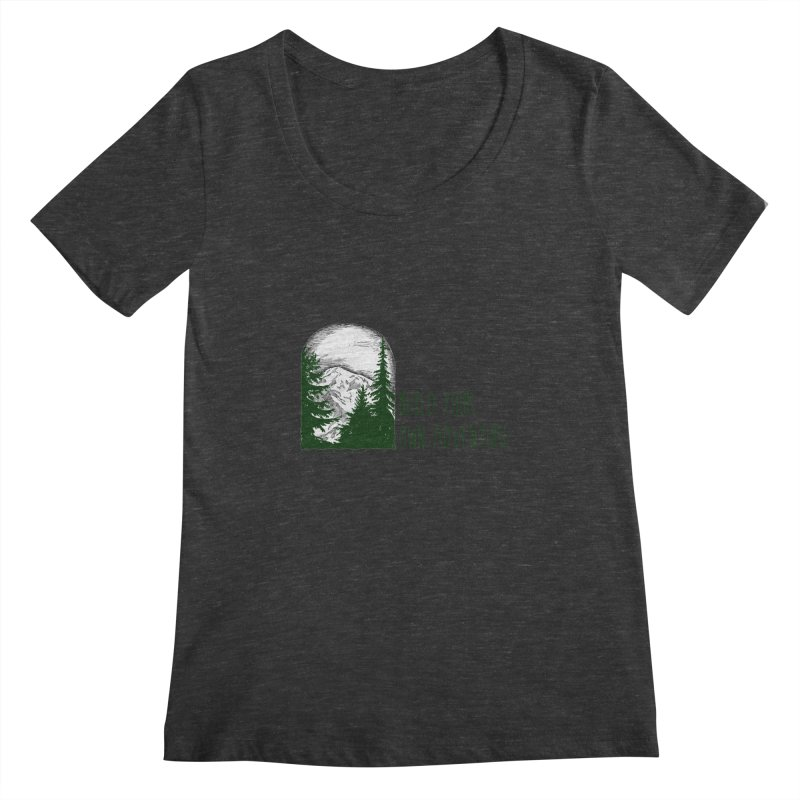 Build Your Own Adventure Women's Scoopneck by sundaydrivedesigns's Artist Shop