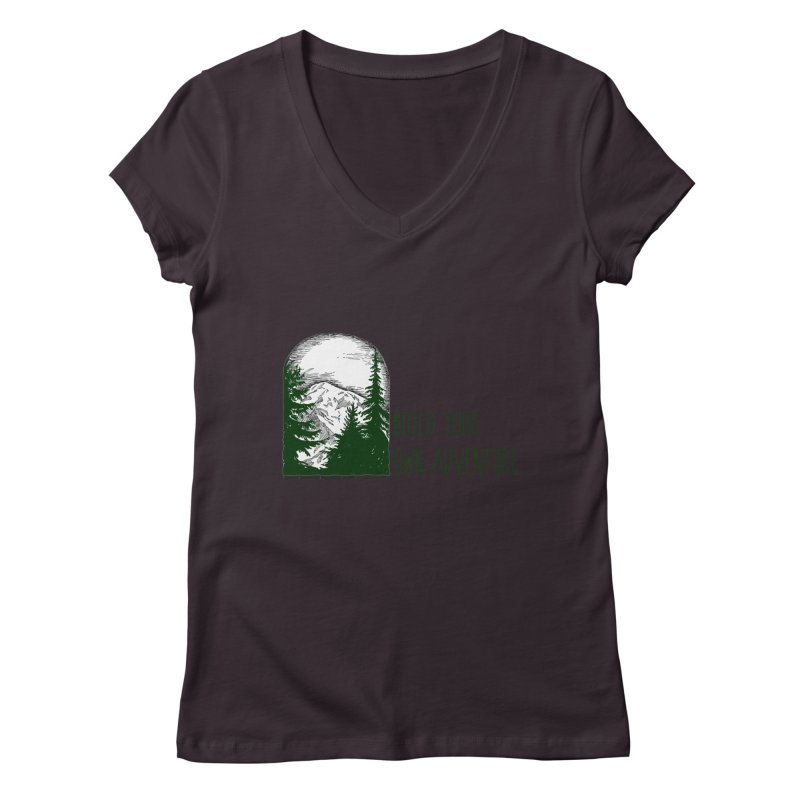 Build Your Own Adventure Women's Regular V-Neck by sundaydrivedesigns's Artist Shop