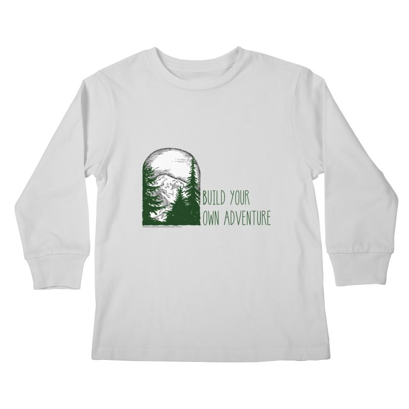Build Your Own Adventure Kids Longsleeve T-Shirt by sundaydrivedesigns's Artist Shop