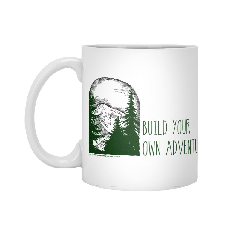 Build Your Own Adventure Accessories Mug by sundaydrivedesigns's Artist Shop