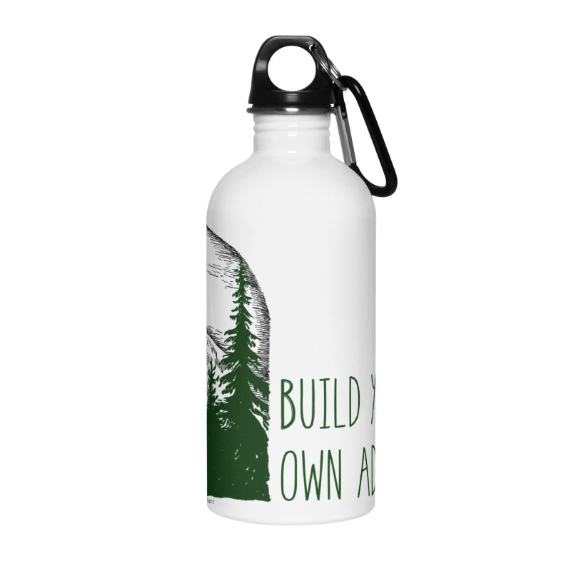 Build Your Own Adventure Accessories Water Bottle by sundaydrivedesigns's Artist Shop