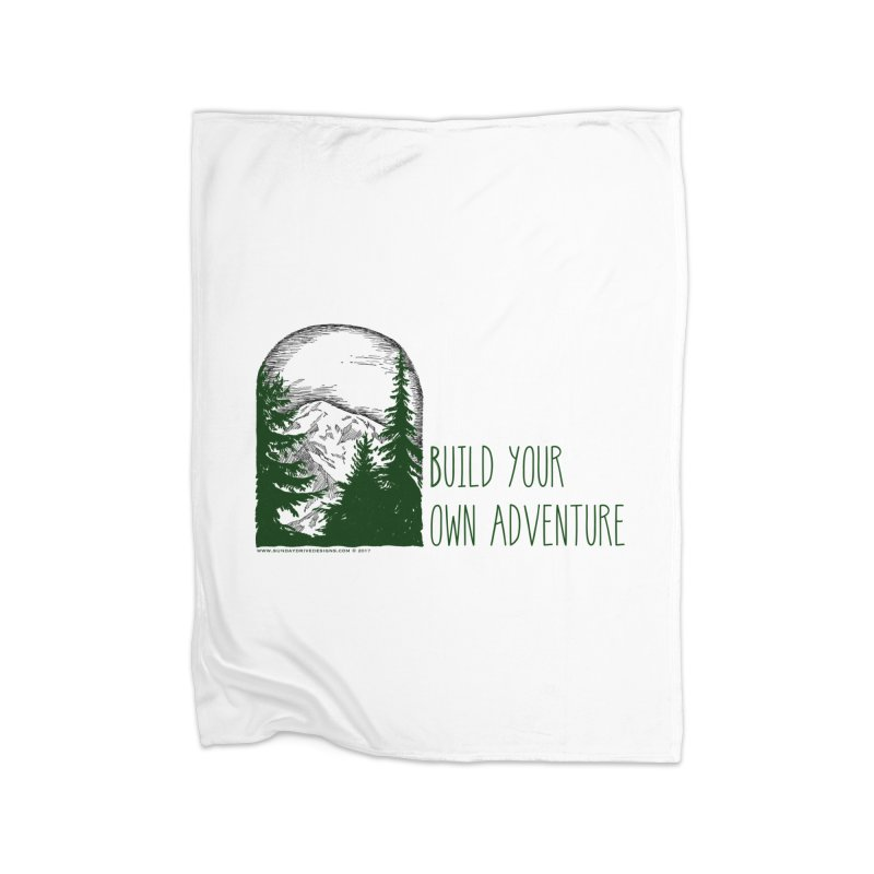 Build Your Own Adventure Home Blanket by sundaydrivedesigns's Artist Shop