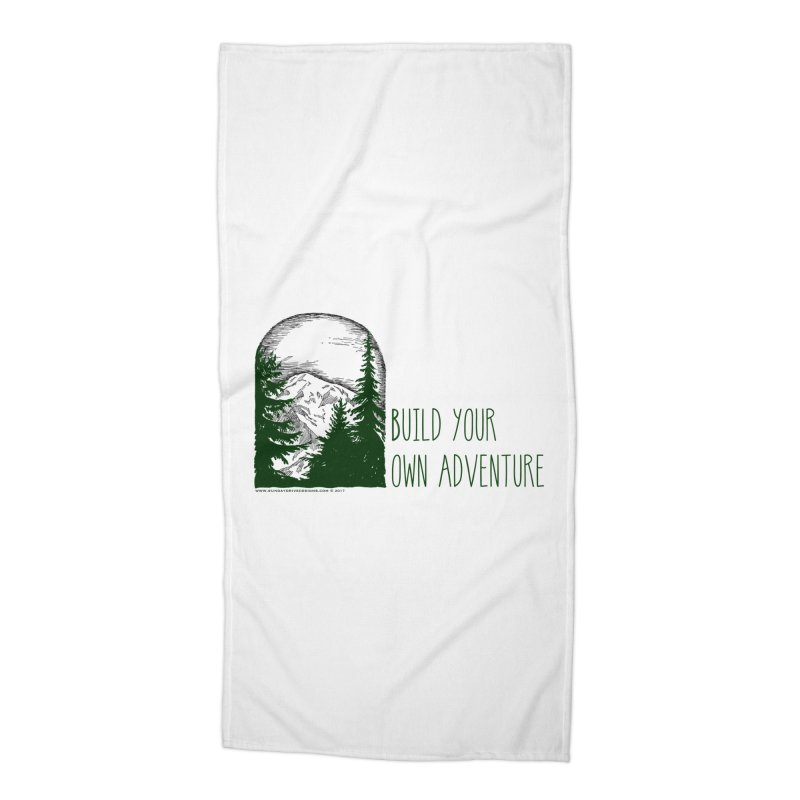 Build Your Own Adventure Accessories Beach Towel by sundaydrivedesigns's Artist Shop