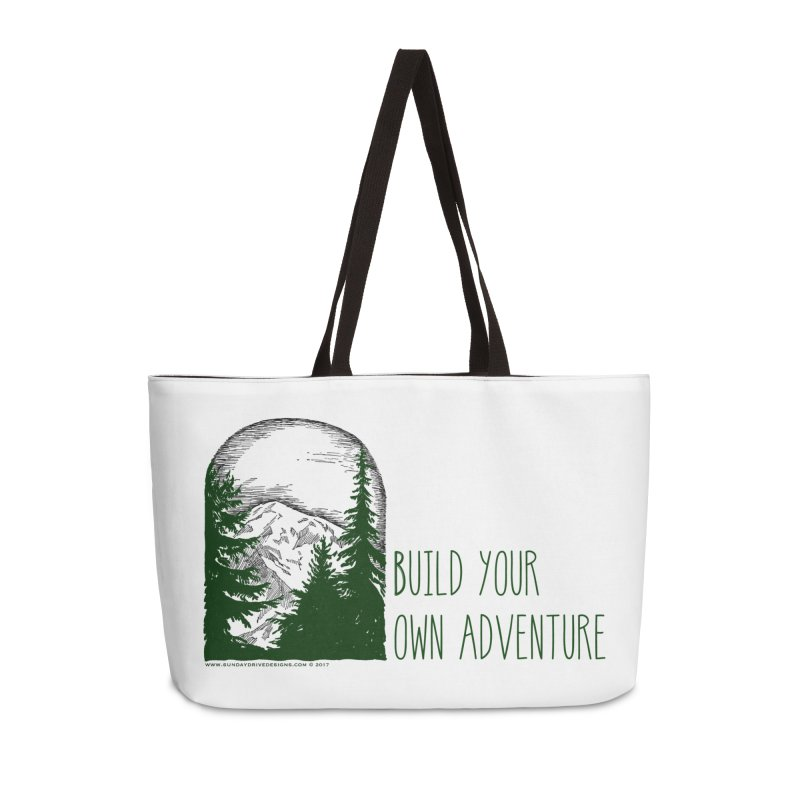 Build Your Own Adventure Accessories Weekender Bag Bag by sundaydrivedesigns's Artist Shop
