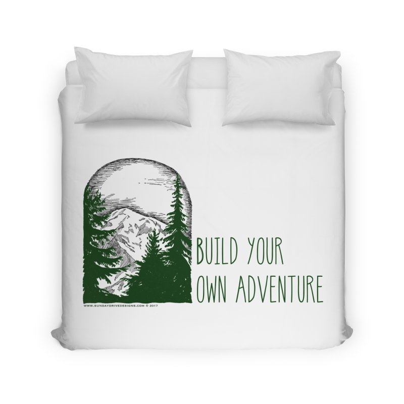 Build Your Own Adventure Home Duvet by sundaydrivedesigns's Artist Shop