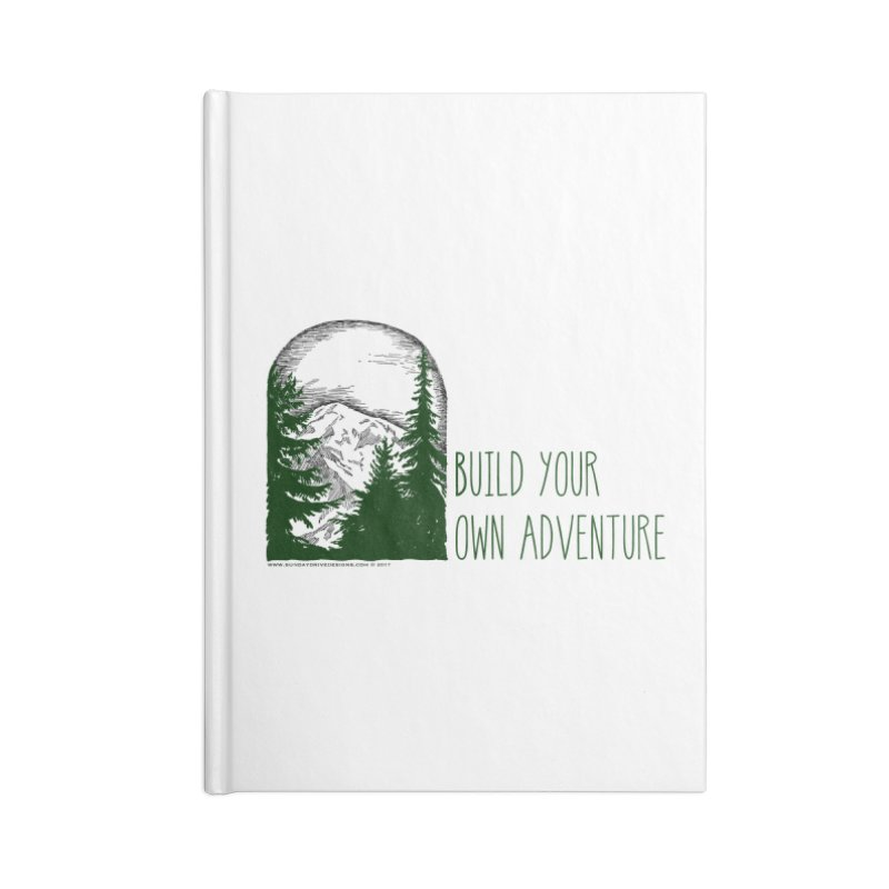 Build Your Own Adventure Accessories Lined Journal Notebook by sundaydrivedesigns's Artist Shop