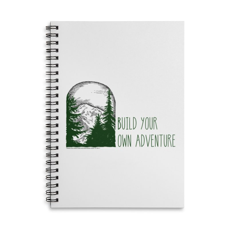 Build Your Own Adventure Accessories Lined Spiral Notebook by sundaydrivedesigns's Artist Shop