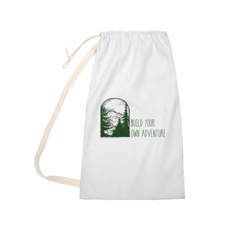 Build Your Own Adventure Accessories Laundry Bag Bag by sundaydrivedesigns's Artist Shop