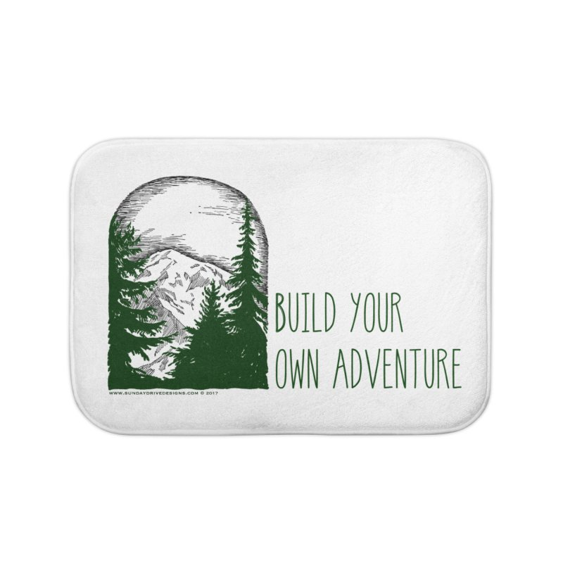 Build Your Own Adventure Home Bath Mat by sundaydrivedesigns's Artist Shop